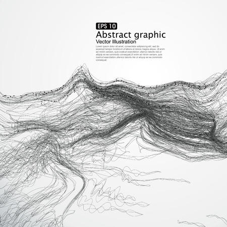 complex lines consisting of Abstract graphic. Vettoriali