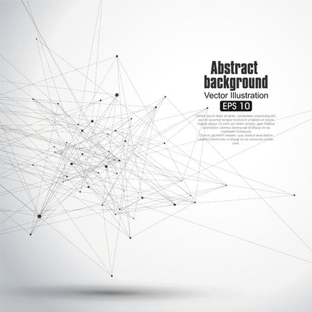 Dot i linia składa się z abstrakcyjnych grafik. Ilustracje wektorowe