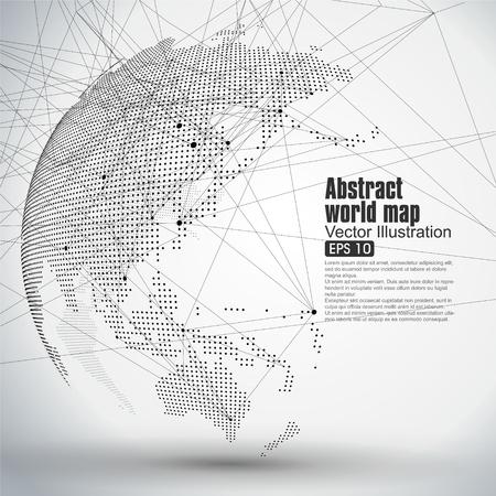 입체 추상 행성 도트 세계지도는 글로벌 글로벌 네트워크 접속 국제 의미를 나타내는 이루어지는. 스톡 콘텐츠 - 52744458