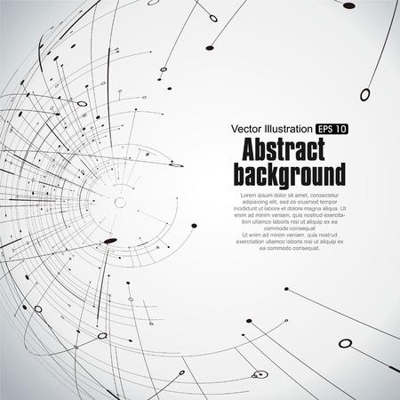 ポイントと曲線は建設技術感覚の抽象的なイラストです。