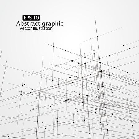 Dot en lijn samenstelling abstract graphics. Vector Illustratie