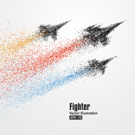 Fighter particles, symbol illustration of rapid development.