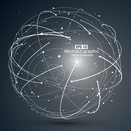 Point et courbe construit le sens technologique illustration abstraite.