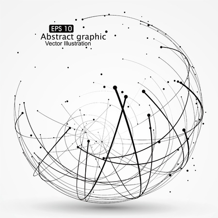 Point-and-Kurve konstruiert, um die technologischen Sinn abstrakte Darstellung.