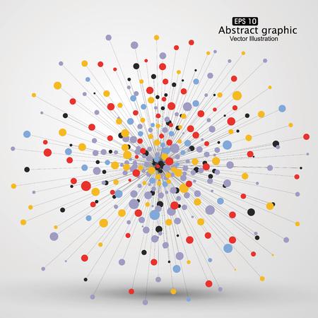 Dot und Linie, bestehend aus abstrakten Grafiken. Illustration