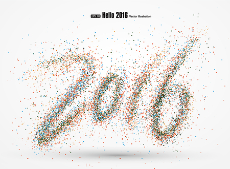 joyous: 2016 font design. Illustration