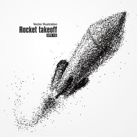 cohetes: el despegue del cohete, la composición de las partículas, con rápido, más allá de la significación