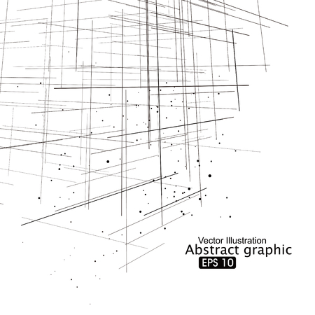 Punkt- und Linien Zusammensetzung abstrakte Grafik.