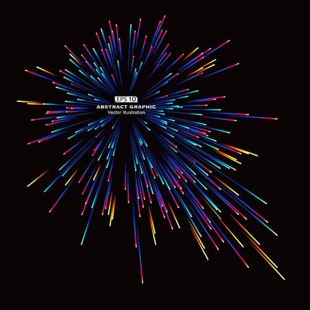 célébration: Dot et ligne constituée de graphiques abstraits radiaux.