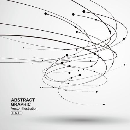 ベクトル竜巻、抽象的なグラフィック。