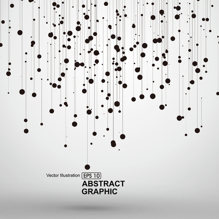connect the dots: Dot and line consisting of abstract graphics.