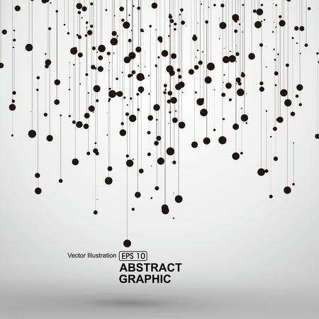 Punto y línea que consta de gráficos abstractos.