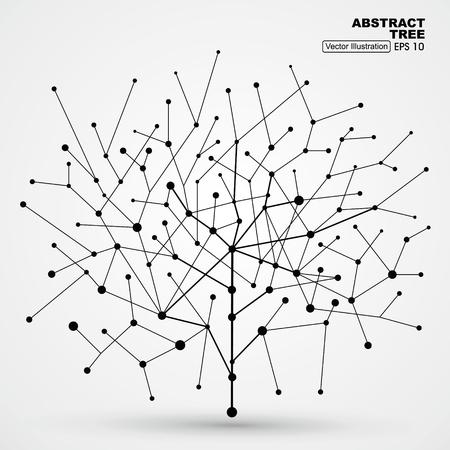 Di punti e linee di alberi, grafica astratta.