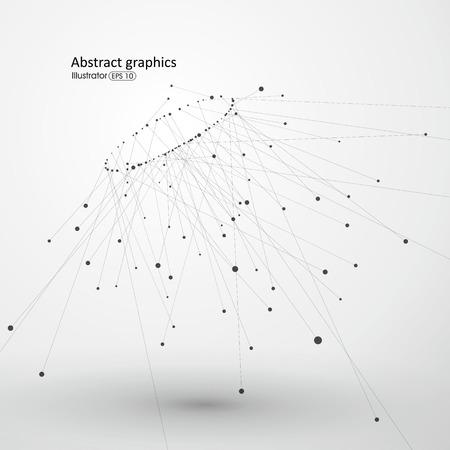 Dot et de la ligne composée de fond abstrait. Vecteurs