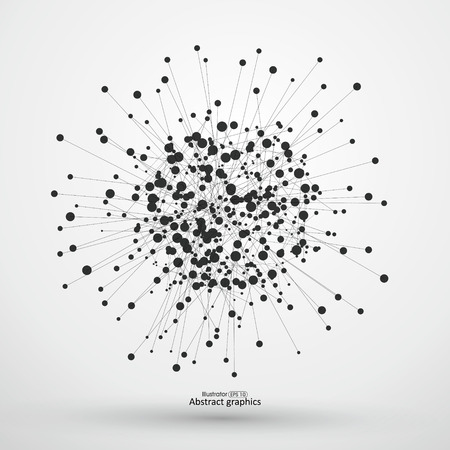 Dot and line consisting of abstract background.