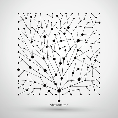 nodes: Of points and lines of trees, abstract graphics.