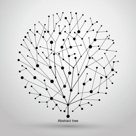 clonacion: De puntos y l�neas de �rboles, gr�ficos abstractos.