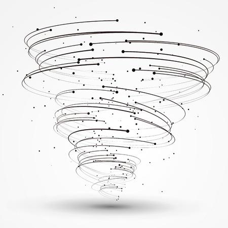 Punkte und Kurven der Spirale Grafiken, Vektor-Illustration. Illustration