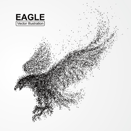 Particle Eagle, vector illustration composition