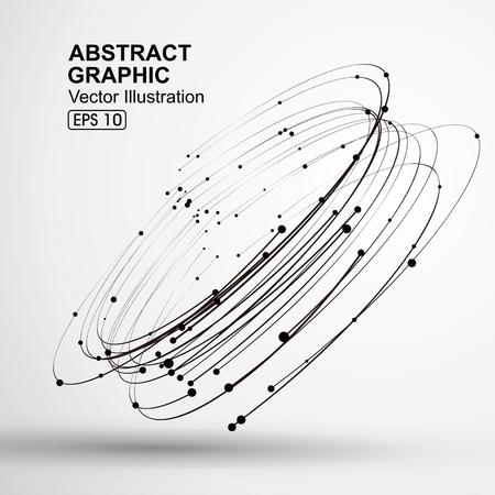Points et courbes de graphiques abstraites spirale.
