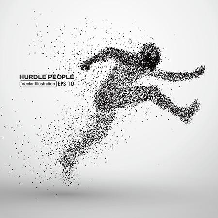 runner up: Hurdle people Illustration