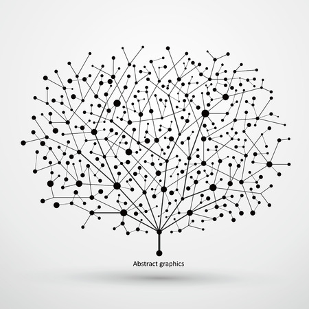 Of points and lines of trees, abstract graphics.