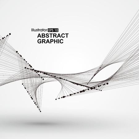 Punto de patrón de líneas de flujo compuesto por. Foto de archivo - 53259197