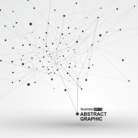Dot and line consisting of abstract graphics. Stok Fotoğraf - 53259200