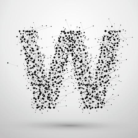 A apunta y líneas formadas, las letras W. Foto de archivo - 53260060