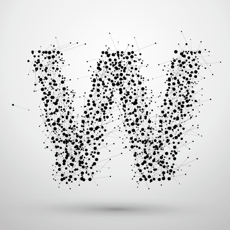 Letter points and lines formed,The letters W.