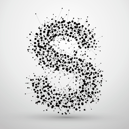 Letter points and lines formed,The letters S.