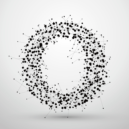 Letter points and lines formed,The letters O.