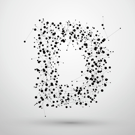 Letter points and lines formed,The letters D.