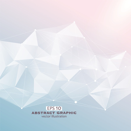 Point, line, surface composition of abstract graphics, Vector illustration.