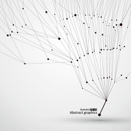 Des points et des lignes d'arbres, graphiques abstraits