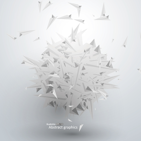 paper graphic: Abstract graphic paper airplane piled