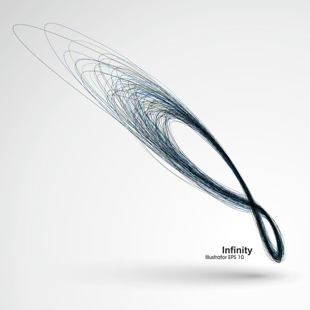 Unendlichkeit, Vektor-Illustration Vektorgrafik