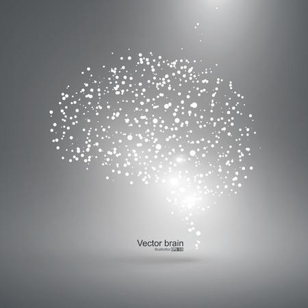 neuron: Abstract brain graphic