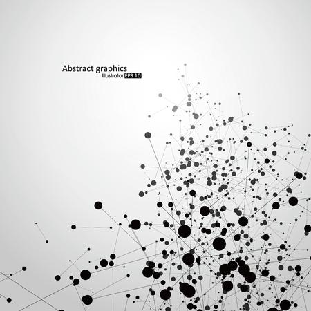 Punto y línea que consta de gráficos abstractos Ilustración de vector