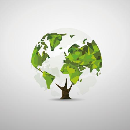 Tree world map
