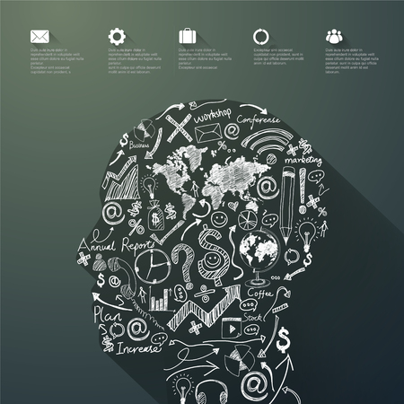 concise: Vector Graphics,Brain, Abstract background.