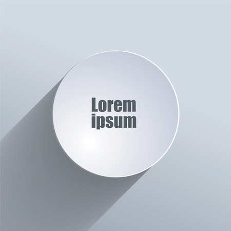 square button: Gray background. Vector illustration. Long Projection Illustration