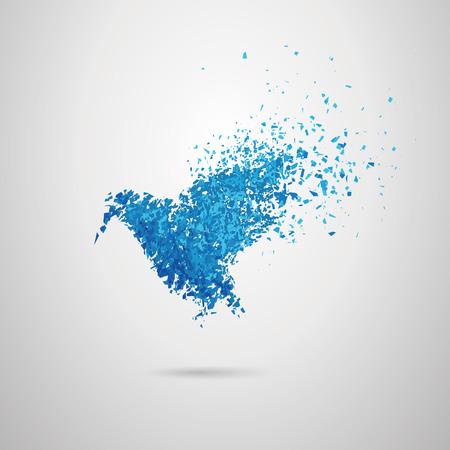 blown: Vector bird,was blown off