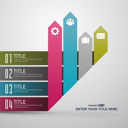 Crecimiento, establece la infografía. Plantilla para el diagrama, gráfica, la presentación y el gráfico. Negocios concepto, partes, etapas o procesos. Ilustración de vector