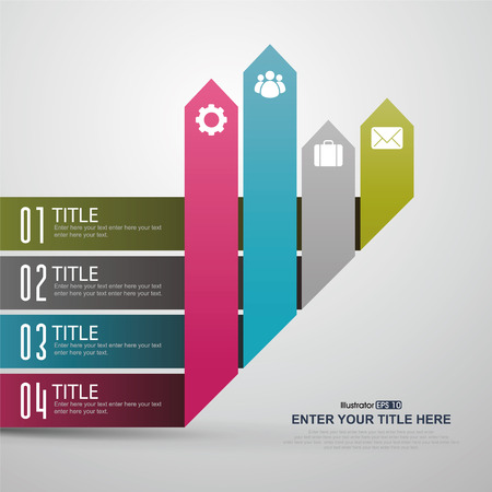 Wachstum, Infografiken Set. Vorlage für Diagramm, Grafik, Präsentation und Grafik. Business-Konzept, Teile, Schritte oder Prozesse. Vektorgrafik