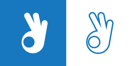 hand sign: OK gesture Icon