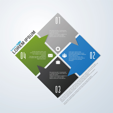report form: Vector arrows for infographic.