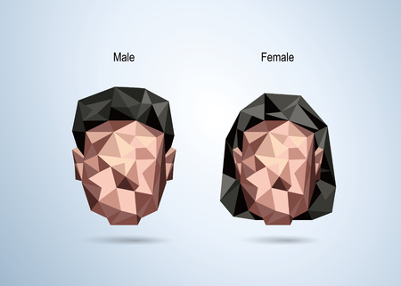 woman male: Male and female avatar Icon