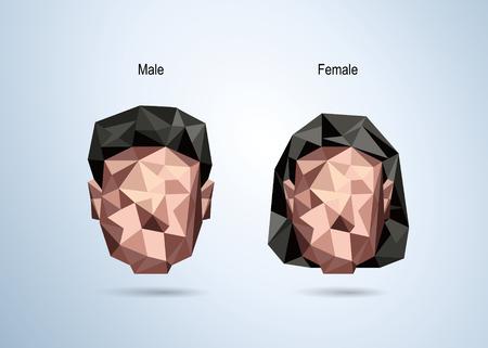 masculin: Varón y hembra avatar Icono Vectores