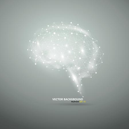 추상 뇌 그래픽 일러스트